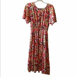 REB. In. J 220 Floral Prairie Boho Midi Dress